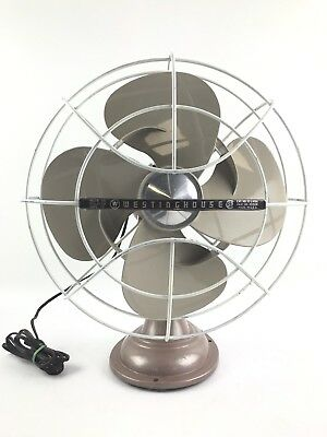 Vintage Westinghouse 12 Oscillating Electric Fan Cat No