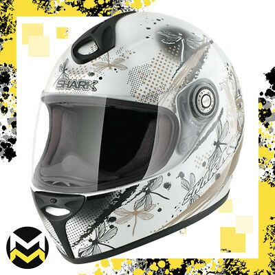 Casco Oro e Perla Integrale XL in Fibra Multiassiale Look Bianco Shark Moto e50e1d4595a8