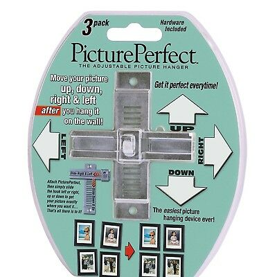 Ranchmark Picture Perfect Adjustable Picture Hanger (3 Pack)