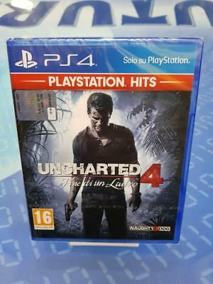 UNCHARTED 4 FINE DI UN LADRO - GIOCO Playstation 4 PS4 NUOVO SIGILLATO ITALIANO