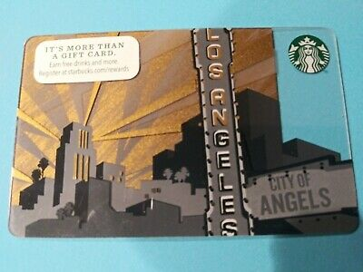 Los Angeles Starbucks Gift Card 2014.  5 years old Mint No Swipes No Value Nice
