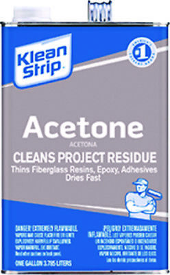 Klean Strip Boat Marine Acetone 1 Gallon Fast Acting Solvent Thinner & Remover
