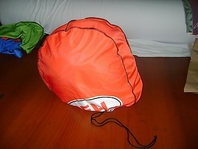 Motorcycle Helmet Bag Microfiber Bell Helmet Bag Carry Helmet Duffle Red Bike