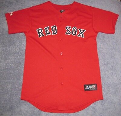 hot sale online 2ed78 b470e BOSTON RED SOX Kids Red Friday Alternate Majestic Jersey Boys XL Youth