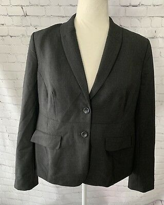 NWT A Pea In The Pod Medium Blazer Maternity Career Black Work 2 Button