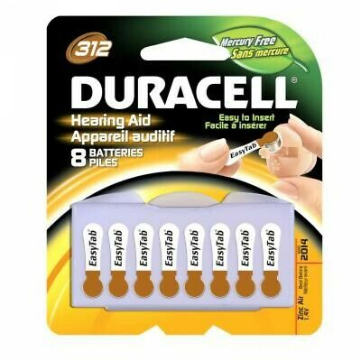 Duracell Activair Hearing Aid Batteries: Size 312 (24 Batteries) Brown