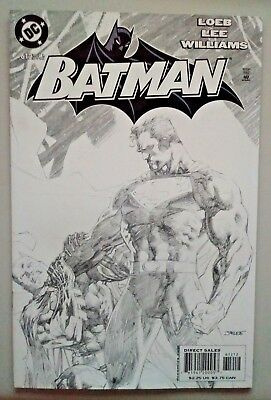 Batman # 612 B/w Jim Lee Sketch Variant Dc Comics