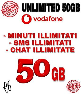 Coupon Clienti Già Vodafone Min E Messaggi Illimitati 50 Gb €6 Special Unlimited