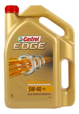 Castrol EDGE 5W40 SN Engine Oil 5L 3383420 fits Renault Fluence 2.0 16V (L30)