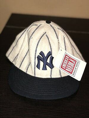 Vintage New York Yankees American Needle Wool Hat MLB Fitted Cap RARE