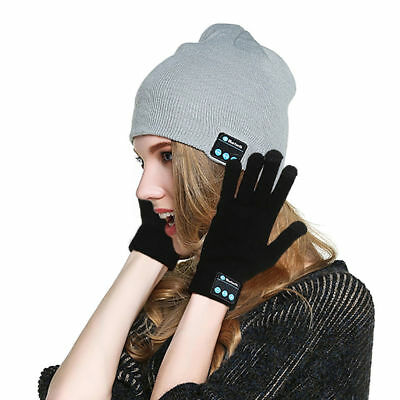 Winter Warm Music Gloves Caps Wireless Bluetooth Speaker Hands Free Call Woofer