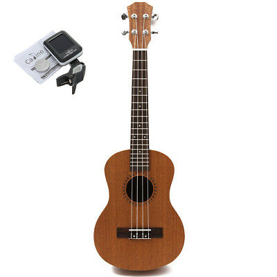 26''Tenor Ukulele Uke Hawaii Guitar Sapele Musical 18 Fret With Tuner Xmas Gift