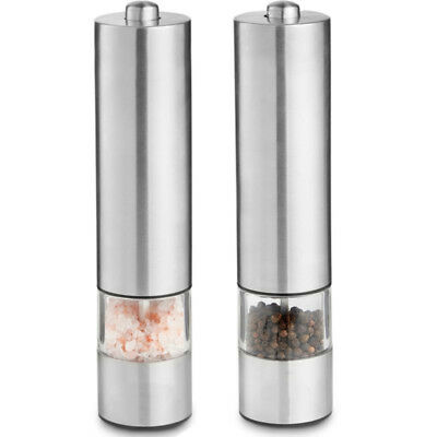 Mill Electronic Stainless Kitchen Salt Shaker Electric Grinder Steel Pepper 1PC