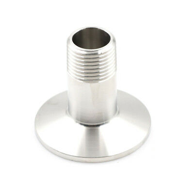 """1/2"""" DN15 Sanitary Male Threaded Ferrule Pipe Fitting Tri Clamp Type SUS SS 316,"""