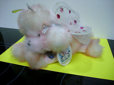 Puppillons poodle plsh butterfly stuffed animal nwt pre-owned nice cond. dog