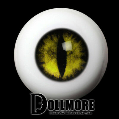 14mm Acrylic Cat Eyes ooak 14mm - OMeta Half Round Acrylic Eyes (Yellow 09)