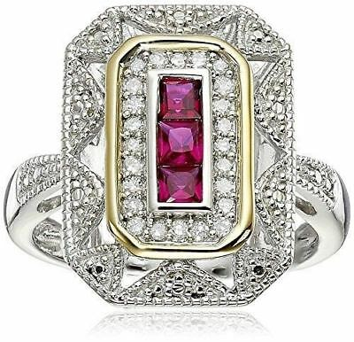 Deluxe Solid Silver Plated Handmade Square Big Diamond Classic Big Rings Vintage
