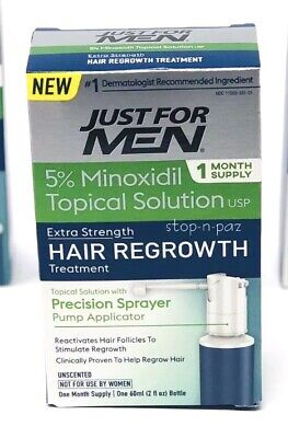 Just for Men Extra Strength Hair Regrowth 1 Month Supply 5% Minoxidil