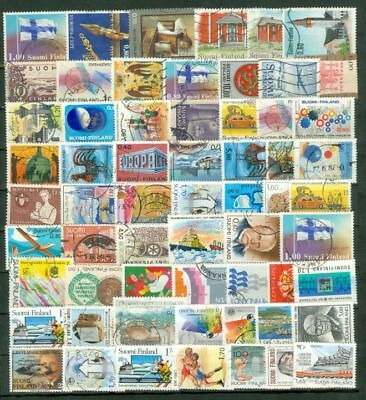 Finland / SUOMI Commemorative Group of 200 used stamp Lot#6551