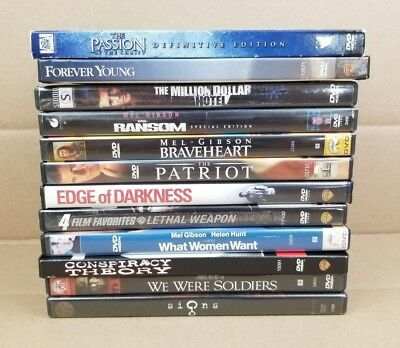 Lot Of 12 Mel Gibson DVD Movies Lethal Weapon Ransom We Were Soldiers Braveheart