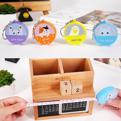 retractable ruler tape measure sewing cloth dieting tailor150cm 60inchkeychainFP