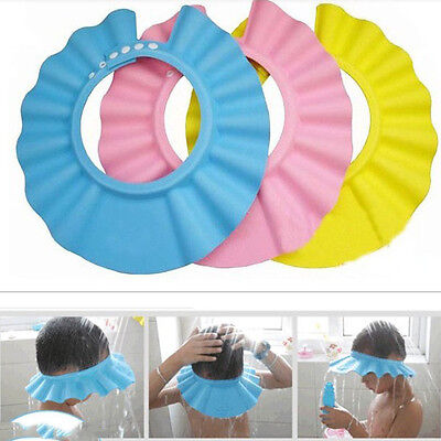 Bathroom Soft Shower Wash Hair Cover Head Cap Hat for Child Toddler Kids Bath LC
