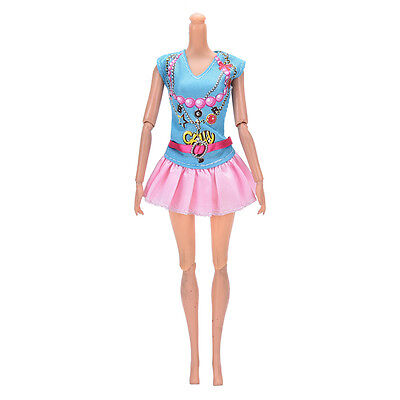 Newest Doll Dress Beautiful Party Clothes Top Fashion Dress For  Doll LY