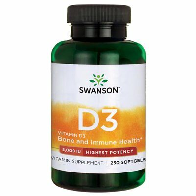 Vitamin D-3 5000 IU Bone Health Immune Support Healthy Muscle Function D3 Suppl