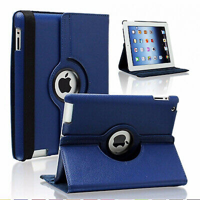 For Apple iPad 2/3/4 360 Rotating Magnetic PU Leather Case Smart Cover Stand NEW