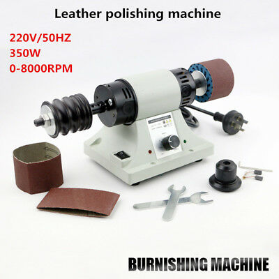 220V Leather Polishing Burnishing Machine Leather Edge Grinding Machine 8000RPM