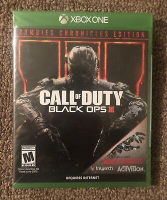 Call of Duty Black Ops III Zombies Chronicles Edition Xbox One Video Game New