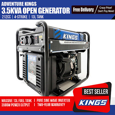 Adventure Kings Petrol  3.5 KVA Generator  Pure Sine Wave Inverter Portable