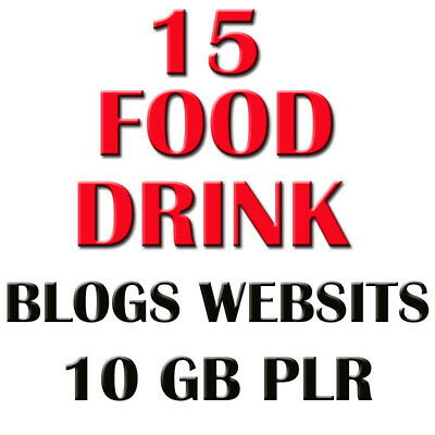 15 FOOD DRINK Turnkey Website and blogs Business - earn from affiliate