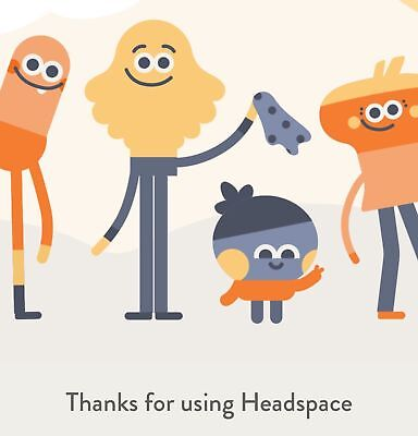 Headspace 3 Month Subscription Code Meditation Mindfulness App iPhone Android