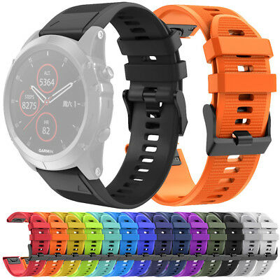 Quick Release Replacement Silicone Easy Fit Wirstband For Garmin Fenix 5X Plus !