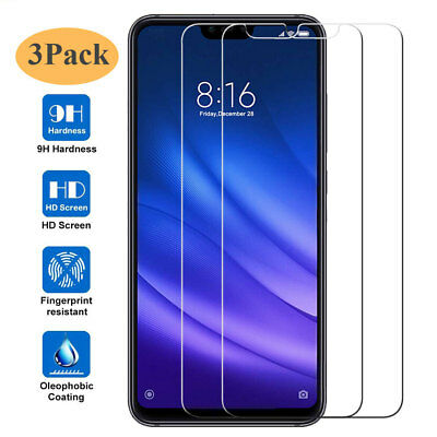 3Pcs 9H Tempered Glass Screen Protector Film for Xiaomi 8 Lite Redmi Note 6 Pro