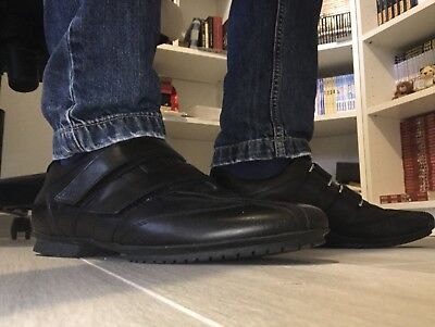 Vera P Smooth U Leather Scarpe Nero Uomo Raptor Pelle Geox AqTvaT