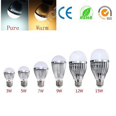 E27 3W/5W/7W/9W/12W/15W LED Edison Globo Luces Lámpara Bombillas Non-Dimmable
