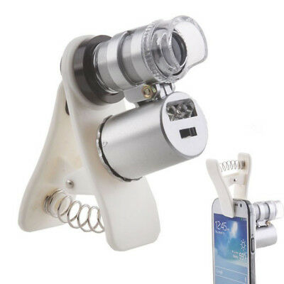 New 60X Smart Phone Clip On Loupe Magnification Magnifier Magnifying Microscope