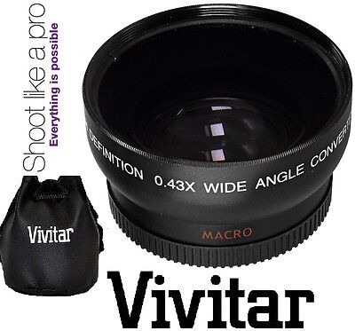 Vivitar HD4 Optics Wide Angle With Macro Lens For Canon Vixia HF M40