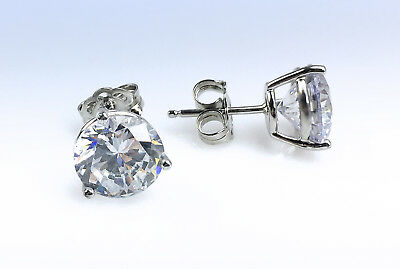 Nordstrom STERLING SILVER Cubic Zirconia 4ct tw CZ Stud Earrings