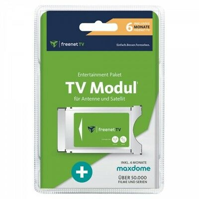FREENET TV CI+ Modul 6 Monate + Maxdome DVB-T2 HD DVB-S Sat Satelliten CI Plus