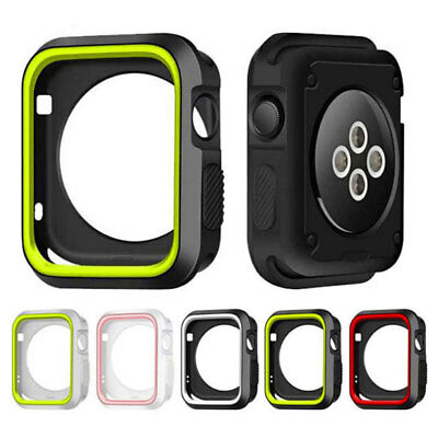 For Apple Watch iWatch Series 4 40/44 Shockproof Hybird Rubber Full Cover Case