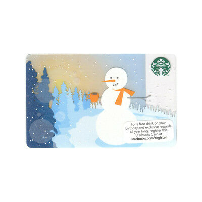 Lot of 5 Snowman (2012) Winter Christmas Holiday Starbucks Gift Cards