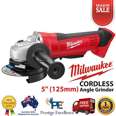 Milwaukee M18 Cordless 18V Li-Ion 5Inch 125mm Angle Grinder Heavy Duty Skin Only