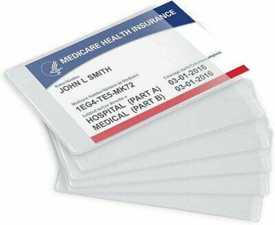 Clear New Medicare Card Size Credit Card Protector Sleeves, 6 Mil Thickness