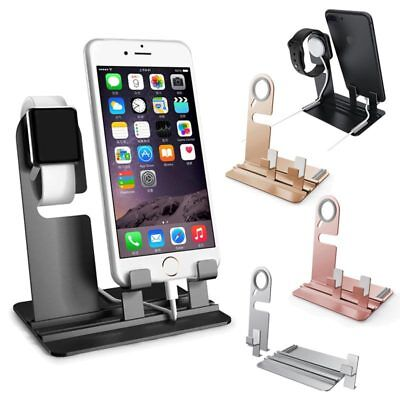 Aluminum Charging Dock Station Holder Stand For iWatch iPhone Apple Watch N5X6D