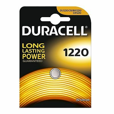 Duracell CR1220 3V Lithium Button Battery Coin Cell DL/CR/BR 1220 Expiry 2026