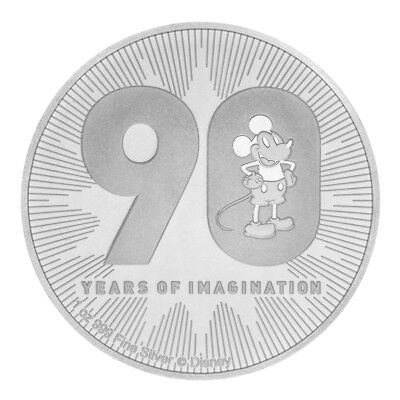 New Zealand Mint 1 OZ Silber Silver Münze 2018 Disney Mickey Mouse 1 Unze