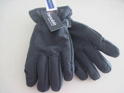 3M Thinsulate Insulation 40 Gram Ski Gloves Men Fleece Black Med New w/Tags
